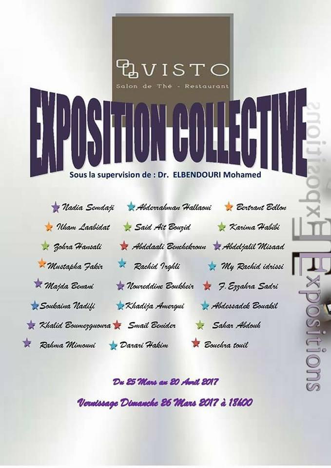 Exposition collective, Café littéraire, 2017